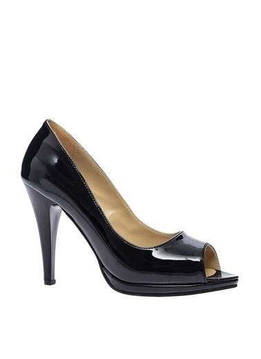 Limon Company İnce Topuklu Rugan Ayakkabı Siyah